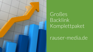 Grosses Backlink - Komplettpaket (inkl. Videoproduktion)